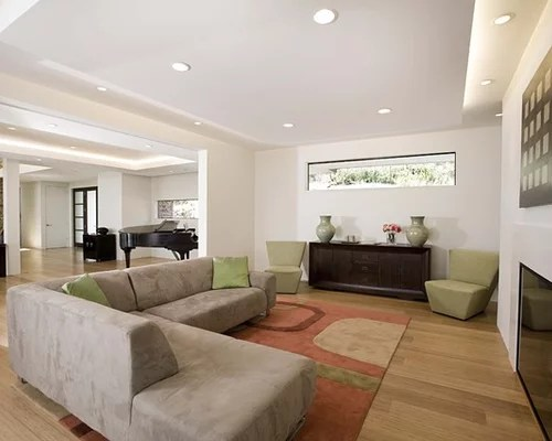 Living Room S Simple Ceiling Plywood Ceiling Long Narrow Window