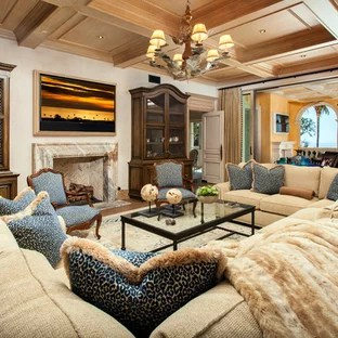 interior decor ideas for living rooms color schemes with dark furniture 75 most popular mediterranean room design 2019 tuscan medium tone wood floor and brown photo in orange county beige
