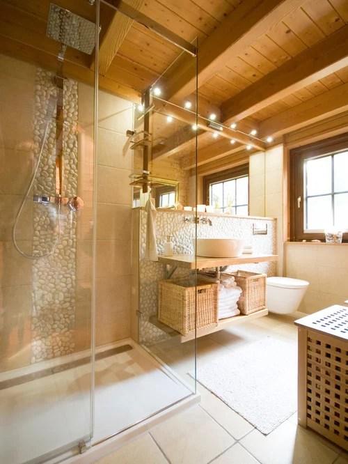 Mediterrane Badezimmer Ideen Design  Bilder  Houzz