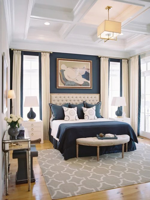 Bedroom Design Ideas Remodels  Photos with Blue Walls