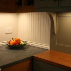 Open Kitchen Sink Ideas Beadboard Backsplash | Houzz