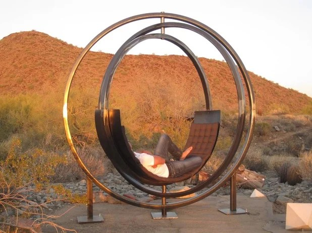 Is It a Gyroscope or Sculpture Nope Its a Chair