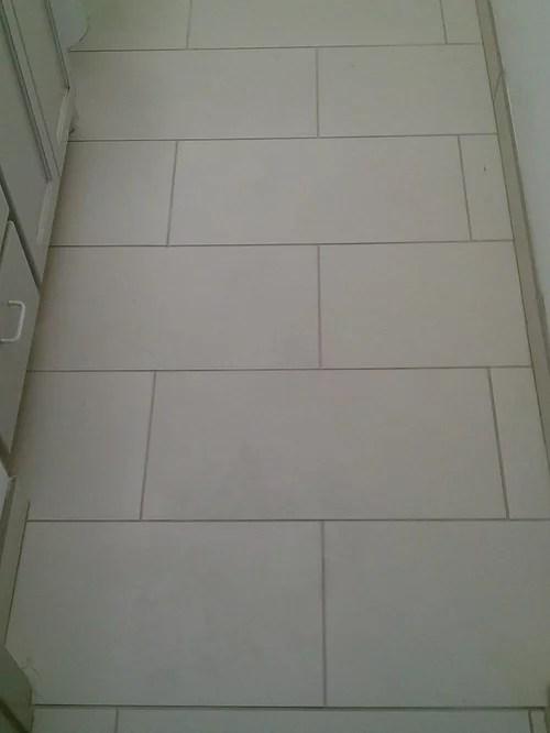 FLOOR  12 x 24 Porcelain Tile on Offset Pattern