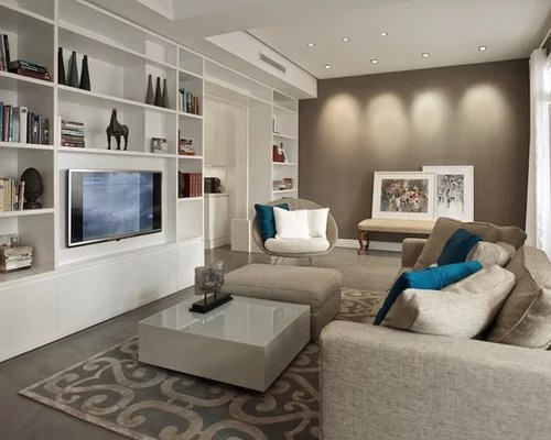 shelving ideas for living room walls pop false ceiling design taupe color scheme ideas, pictures, remodel and decor