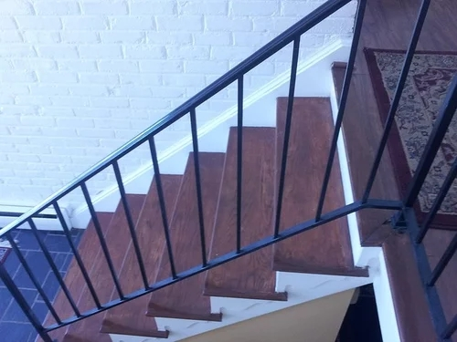Suggestions To Update Wrought Iron Stair Railing Without Replacing | Decorative Handrails For Stairs | Brushed Nickel | Popular | Corner Interior Stair | Exterior Irregular Stair | Iron Staircase