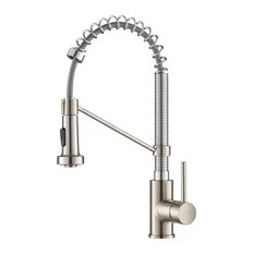 stainless steel kitchen faucet with pull down spray door knobs 50 most popular faucets for 2019 houzz kraus usa inc bolden pre rinse