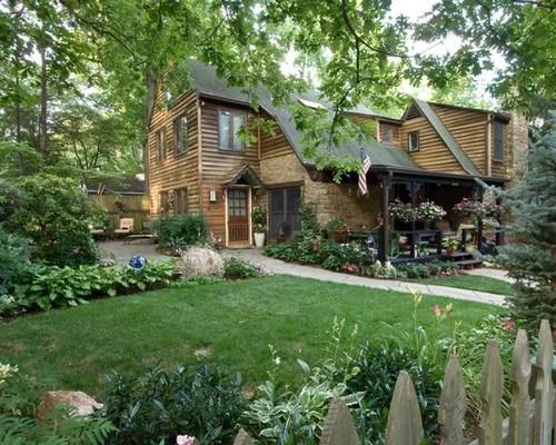 country front yard garden design