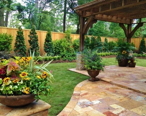 Landscaping Along Fence Home Design Ideas Renovations & Photos