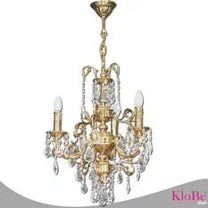 Klobe Fantasy 3 Light Brass Chandelier Bright Nickel Chandeliers