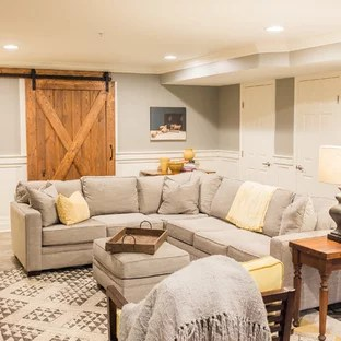 30 Trendy Farmhouse Basement Design Ideas Pictures Of