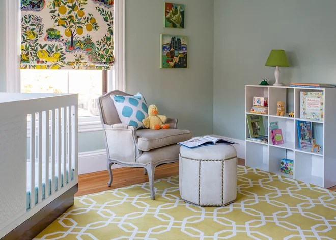 Transitional Nursery by MANDARINA STUDIO interior design