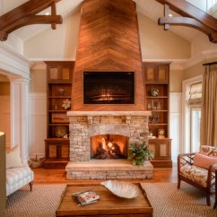 Traditional Living Room Ideas With Fireplace And Tv Paint Color Wood Wall Home Design Ideas, Pictures, Remodel ...
