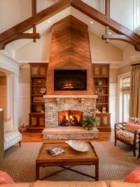 Wood Fireplace Wall Ideas, Pictures, Remodel and Decor