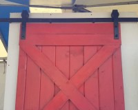 Rustic Sliding Red Barn Door for the Home