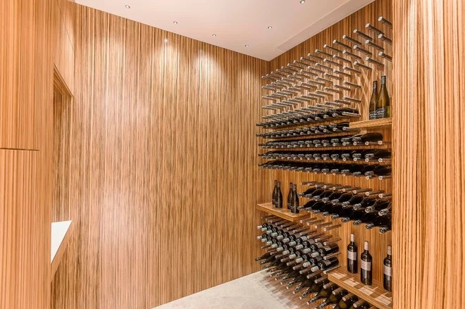 Contemporary Wine Cellar by Mal Corboy Design