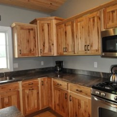 Country Kitchen Decor Sink Cover Knotty Hickory Cabinets Home Design Ideas, Pictures ...