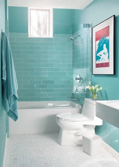 Transitional Bathroom by Annie Hall Interiors
