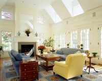 Vaulted Ceiling Family Room Home Design Ideas, Pictures ...