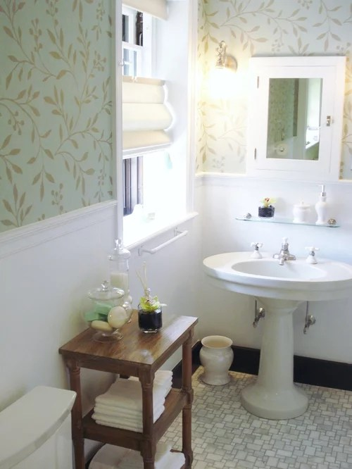 Wallpaper In Bathroom Home Design Ideas Pictures Remodel