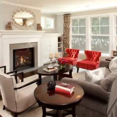 Gray And Red Living Room Decorating Ideas Velvet Photos Houzz Elegant Photo In Minneapolis With Walls