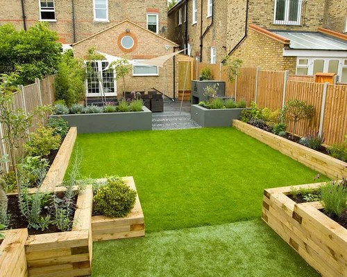 Railway Sleepers Garden Home Design Ideas Renovations & Photos