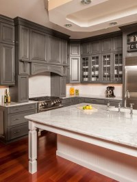 Gray Stained Cabinets Ideas, Pictures, Remodel and Decor