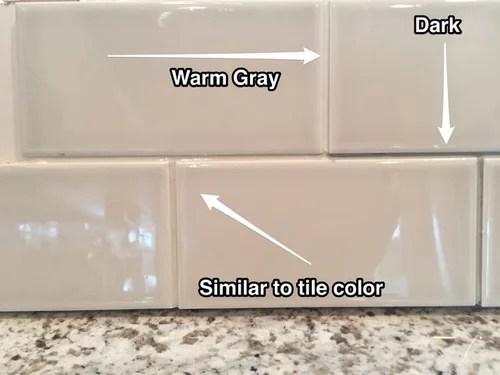 choosing grout color for backsplash