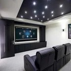 dallas cowboys theater chairs brown jordan inspired game and media room - contemporary home by wesley ...