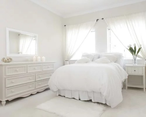 All White Bedroom  Houzz