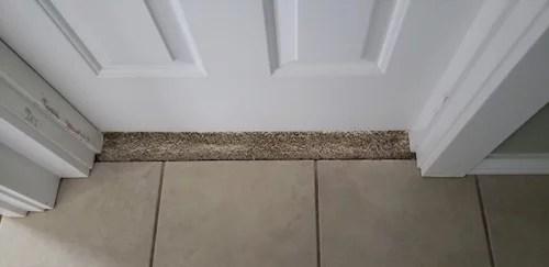 tile to carpet at doorway