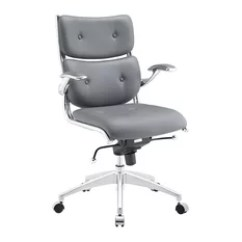 Cool Modern Office Chairs Think Chair Steelcase 50 Most Popular For 2019 Houzz Modway Push Mid Back Eei 1062 Gry