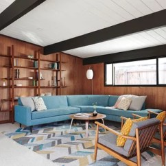 Mid Century Modern Living Room Lights For 75 Most Popular Midcentury Design Ideas 2019 Open Concept Vinyl Floor And White Library Photo In San Francisco