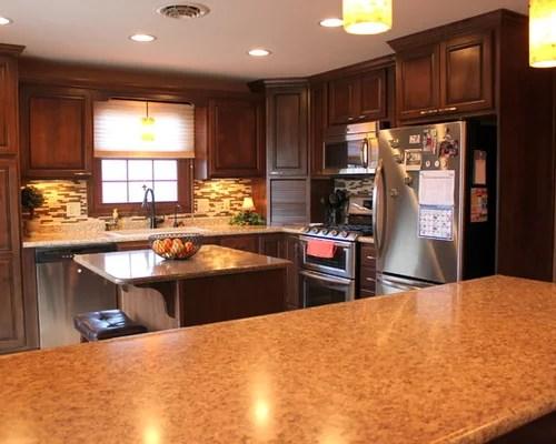 drop in stainless steel kitchen sink counter desk wilsonart milano quartz | houzz