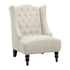 traditional wingback chair design hd 50 most popular chairs for 2019 houzz gdfstudio clarice tall tufted fabric accent light beige armchairs and