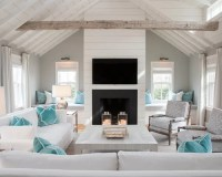 Beach Style Living Room Design Ideas, Remodels & Photos ...