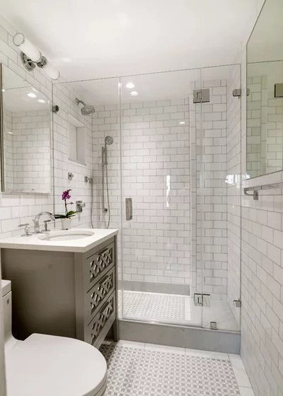 Transitional Bathroom by Pett & Associates, LLC