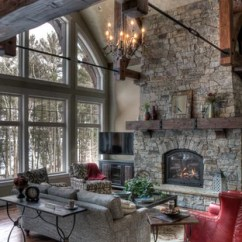Rustic Living Rooms Long Side Tables For Room 75 Most Popular Design Ideas 2019 Stylish Mountain Style Formal Photo In Minneapolis With A Standard Fireplace And Stone