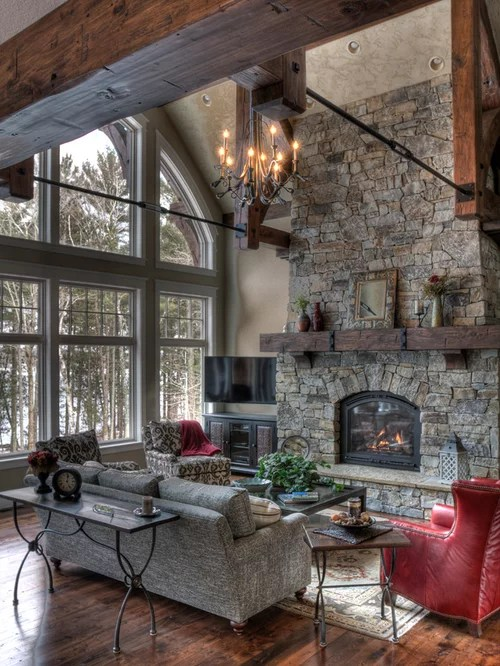 Best Rustic Living Room Design Ideas & Remodel Pictures Houzz