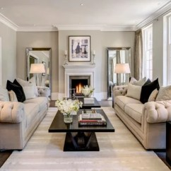 Living Room Designs With Grey Walls Half Wall Tiles In Cream Ideas And Photos Houzz Design For A Traditional London