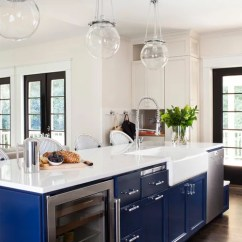 Undercounter Kitchen Sink How To Build Your Own Cabinets Light Blue | Houzz