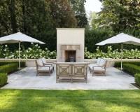 Modern Outdoor Fireplaces | Houzz
