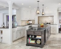 Travertine Flooring With White Cabinets Ideas, Pictures ...