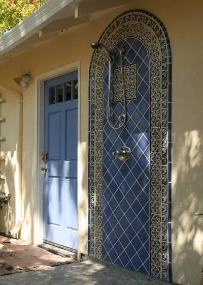 Mediterranean Patio by Kathryn Shaffer Architect