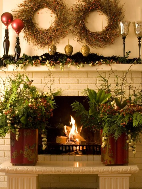 Inside Fireplace Decor Elegant Christmas Decorations Home Design Ideas, Pictures