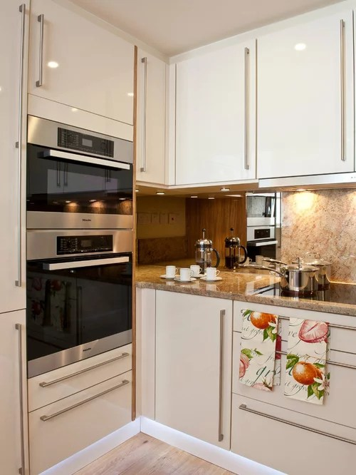 two tone kitchen island window curtain ideas eye level oven home design ideas, renovations & photos