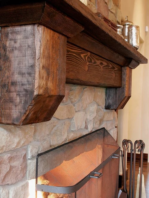 Railroad Tie Mantle Ideas Pictures Remodel and Decor