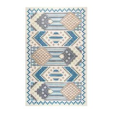 Rizzy Home Zingaro Area Rug Blue/Taupe Tan Blue Light Blue 8'x10'