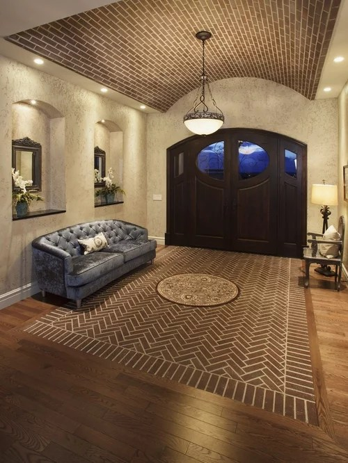 Herringbone Brick Floor Home Design Ideas Pictures