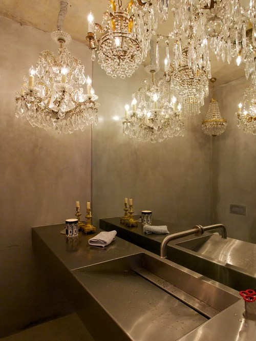 Powder Room Chandelier Home Design Ideas Pictures