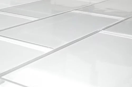 no grout glass tile walls